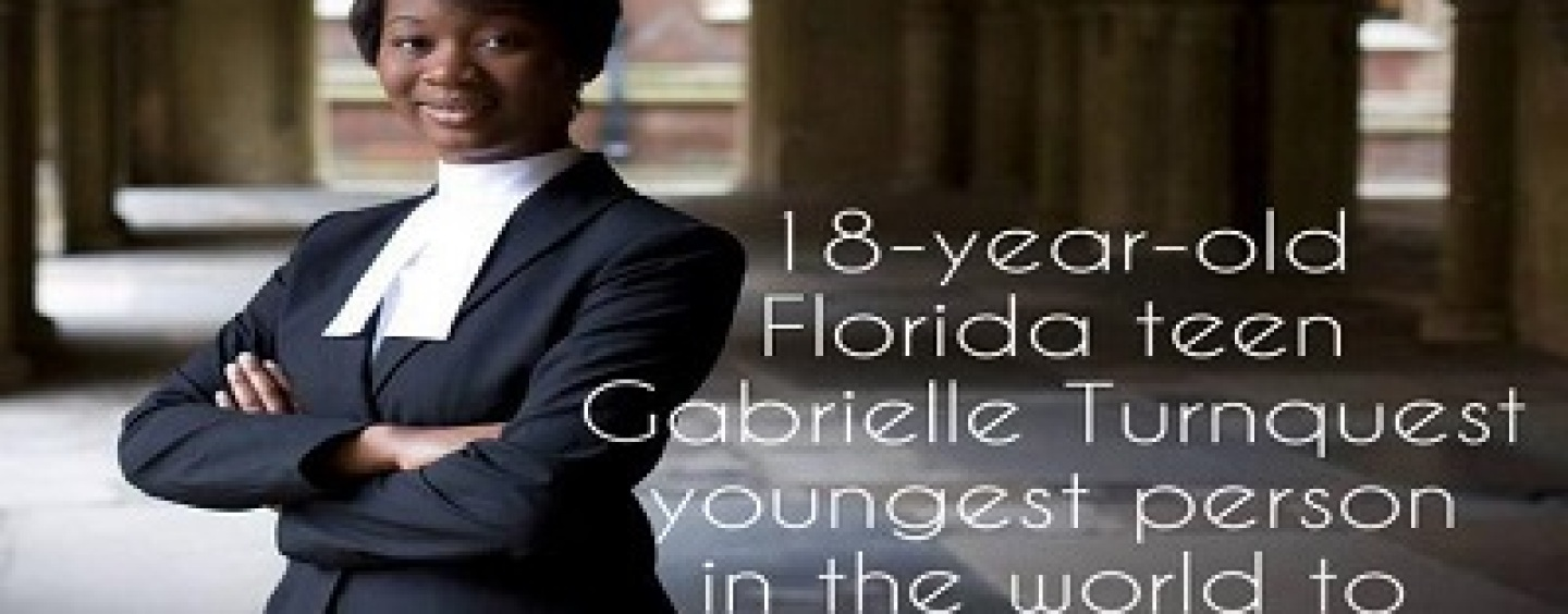 18 Year Old Gabrielle Turnquest Becomes Youngest In The World To Pass UK Bar Exam! (Video)