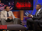 Stephen A Smith Checks Roland Martin, Jim Brown & Other Mindless Blacks On Kobe Bryant Trayvon Martin Issue On Arsenio Halls Show! (Video)