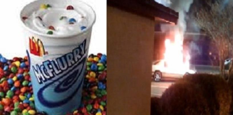 An Arugment Over A McDonalds McFlurry Makes A Woman AKA The Terminatrix Torch A S.I.M.P.s Car! (Video)