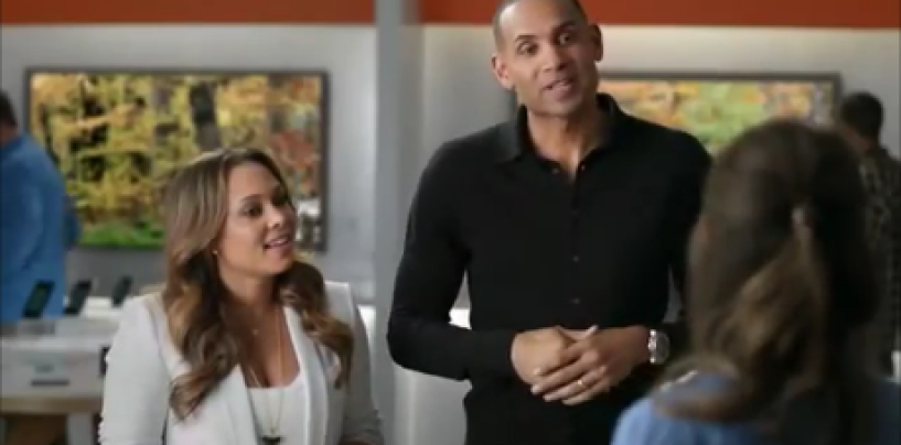 Grant Hill, Wife Tamia & Their Kids Lovely AT&T Commercial! I Love This Couple (Video)