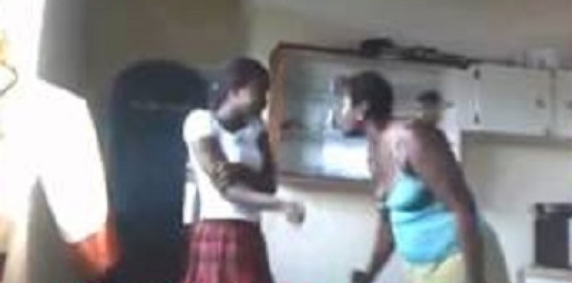 Black Mom Beats Her Daughter Like  A Run-Away Slave Over A Facebook Post! (Video)