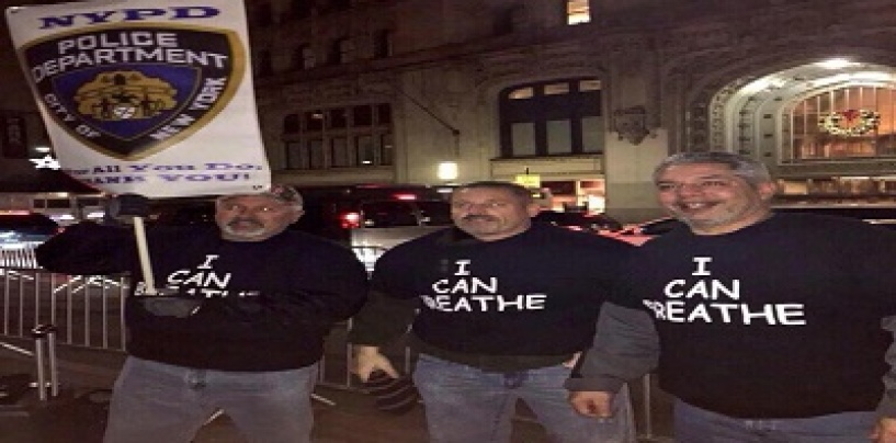 3 White NYPD Cops Wear I Can Breathe Shirts In Support Of The NYC Police Officers! WOW (Video) #IShitUNot
