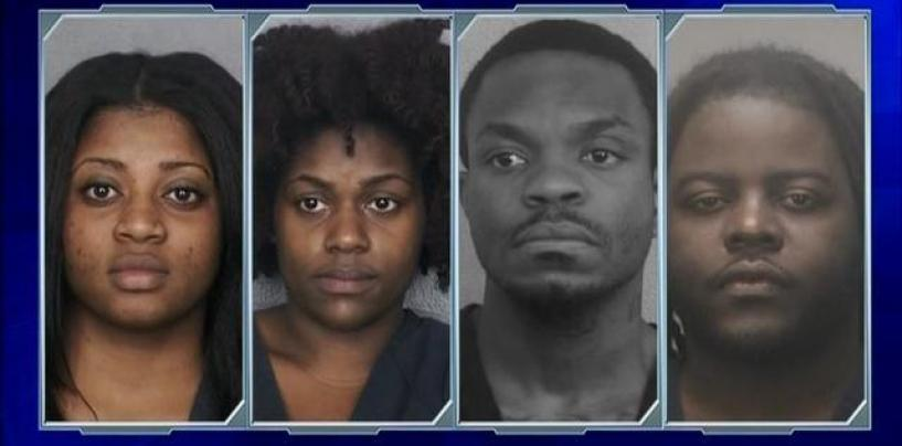 4 Barbaric Niggaz Arrested After Starting A Brawl About A Dispute Over Dinner Bill! Seriously #IShitUNot (Video)