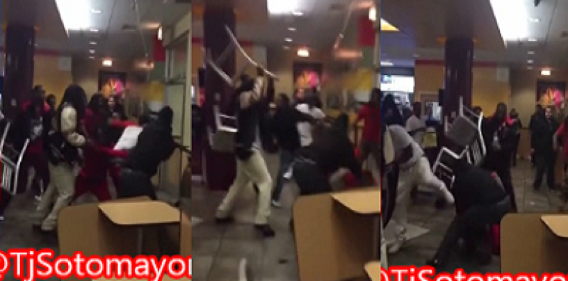 A Pack Of Niggaz Destroy Chicago McDonalds & Other Chicago Tourist Spots! (Video)