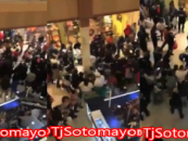 Hundreds Of Wild Niggaz Fight Each Other Causing Entire Pittsburg Mall To Close Down! (Exclusive Video)