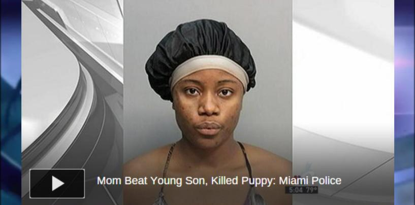 Black Queen Beats Son Like Run Away Slave & Murders Family Dog Infront Of Him To Teach Him A Lesson! (Video)