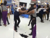 Two Hair Hats Square Off In Wal-Mart Employee & Patron Over Stolen Vaseline! (Video)