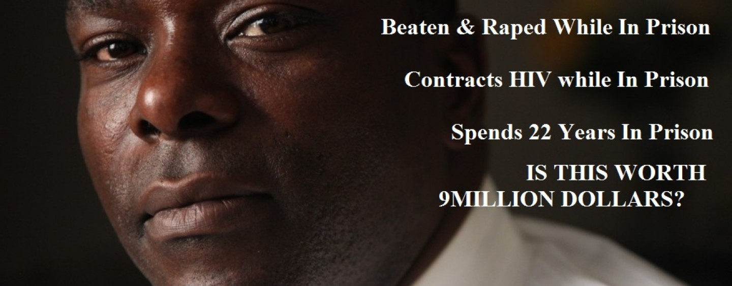 Man Wrongly Convicted Spends 22 Years In Jail, Raped Over 12 Times & Contracted HIV Awarded $9.1 million! (Video)