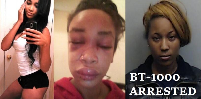 Light Skinned Hood Chick Jumped By 3 JR BT-1000's Over A Hamburger & Being Lighter & Prettier! (Video)
