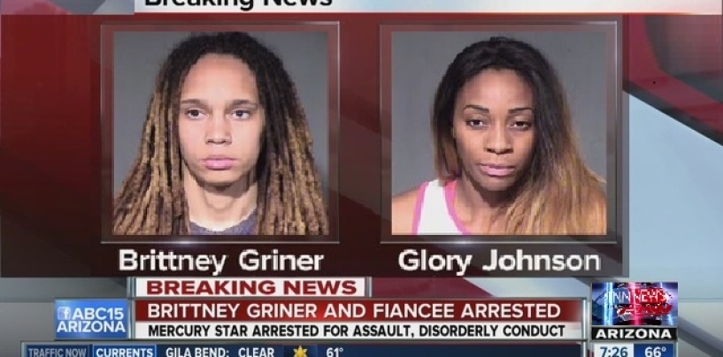 WNBA Star Couple Brittney Griner & Glory Johnson Arrested For Fighting But Where In The Hell Is The Public Outrage? (VIdeo)