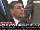 New England Patriots TE Aaron 'The Idiot' Hernandez Convicted Of 1st Degree Murder & Sentenced To Life In Prison! (Video)