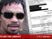Manny Pacquiao Getting Sued For Lying About His Injury During The Floyd Mayweather Fight! (Video)