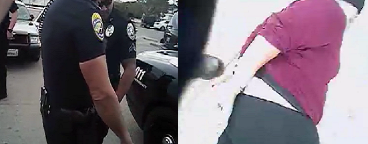 Cali Cops Body Slam Black Pregnant Woman On Her Stomach! Who Was In The Wrong Here? (Video)