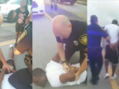 Police Try To Arrest A Black Man In Front Of His Crying Kids & His Wife Acts A Complete Jackass Over It! (Video)