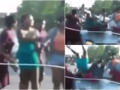 East Stl BT-1000s Do The Suge Knight Challenge Running Over 4 Black Chicks Over An Argument! (Video)