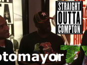 Tommy Sotomayor Talking With Angry Fans Before Going In To See Straight Outta Compton! (Video)