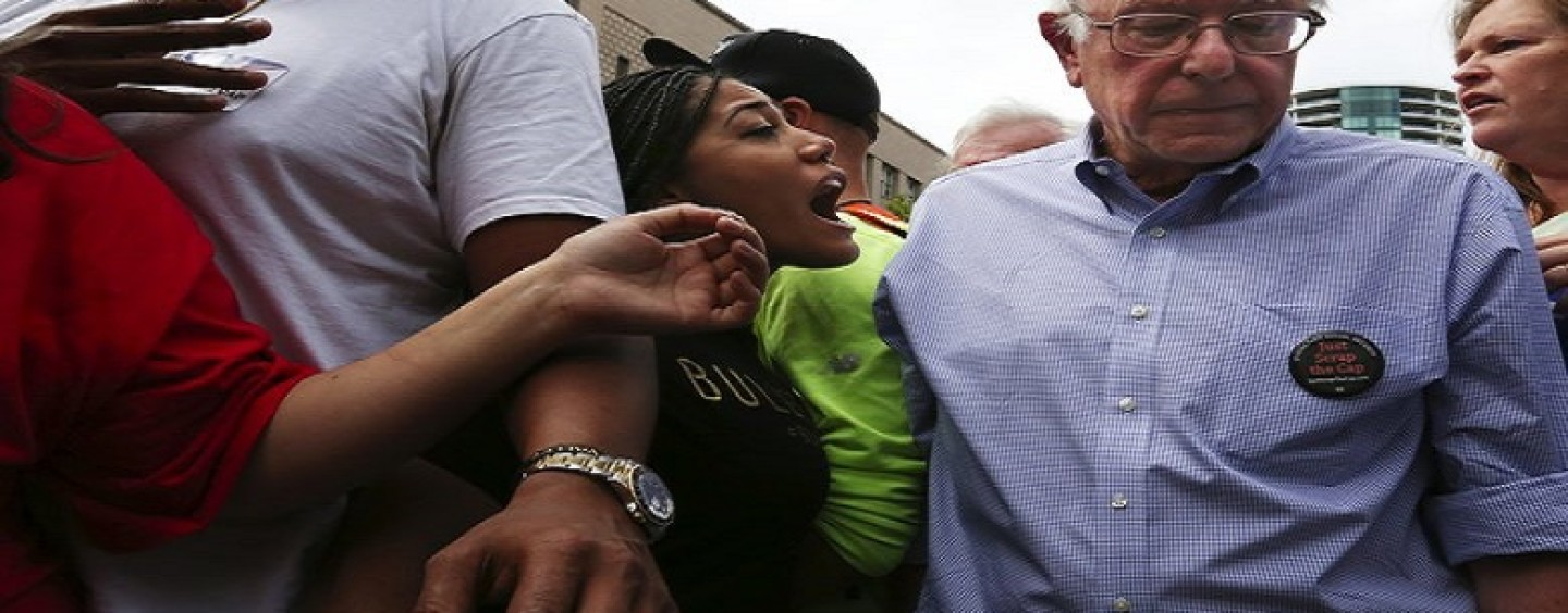Neon Hair-Hatted BT-1000s Ruin Bernie Sanders Ralley With Black Lives Matter BS! (Video)