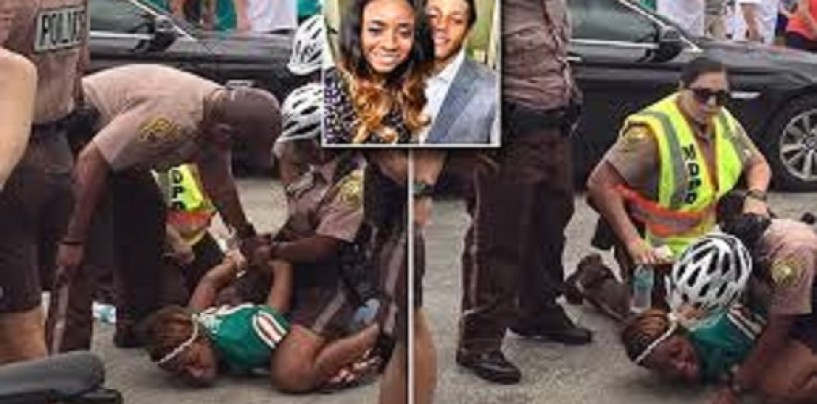 NFL Wife Of Dolphins Brent Grimes Arrested For Trespassing, Headbutting A Cop, U Know Normal Black Chick Stuff! (Video)