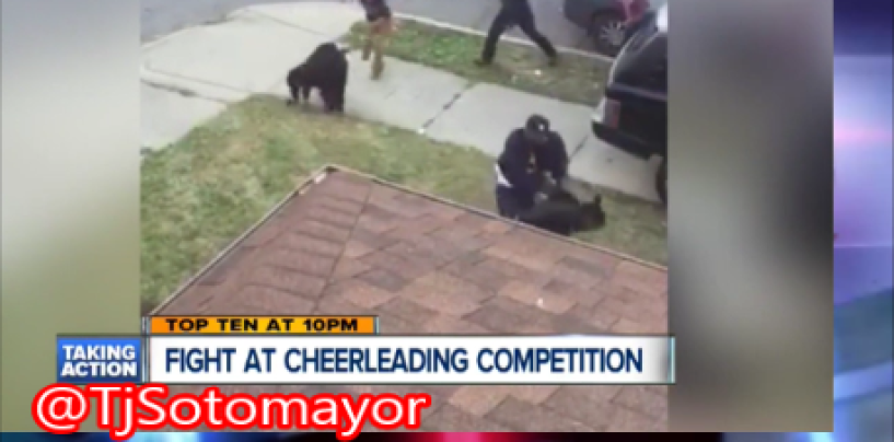 BT-1000 Mothers Of Detroit Black Beastie Cheer I Mean MiseryLeading Squad Brawl After School Event! (Video)
