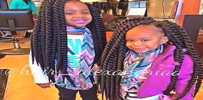 Hair Hatted Kids Struggle To Smile Under The Weight Of Their Weaves! (Photo)