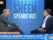 Actor Charlie Sheen Reveals To The World His HIV Status On The Today Show With Matt lauer! (Video)