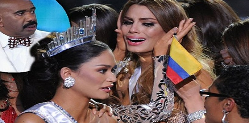 The Conspiracy Theories Behind Why Steve Harvey Ruined Miss Universe For Miss Colombia. (Video)