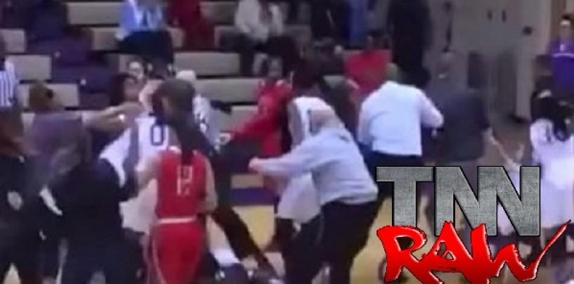 BT-1100 High School Girls Basketball Teams Get Banned For Having Black Girl Brawl On The Court! (Video)
