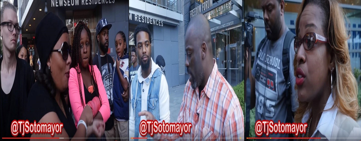 Blacks At 2015 Million Man March Take On Tommy Sotomayor & His Opinions On Black Women! (Video)