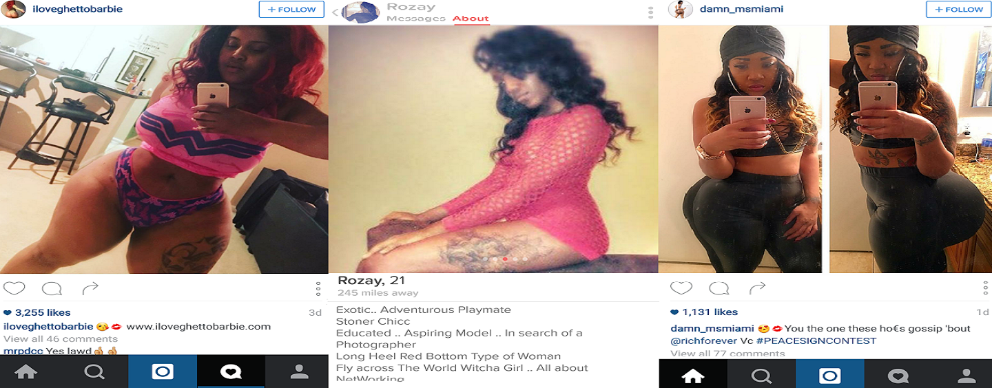#BlackGirlsRock & They Also Use Tinder, Instagram & Other Social Media To Prostitute Themselves Out! (Video)