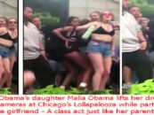 Barack Obama Daughter Malia Twerks & Flashes Her Azz For Racist White Men In Chicago! (Video)