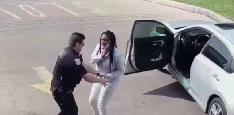 Black Queen Calls 911 On Racist Arresting Officer Which Infuriates Him & Makes Him Assault Her! (Video)