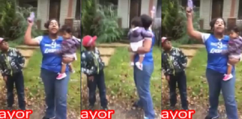 Detroit BT-1000 LSE Shoots A Gun At Her House As Her Kids Watch In Horror! (Video)