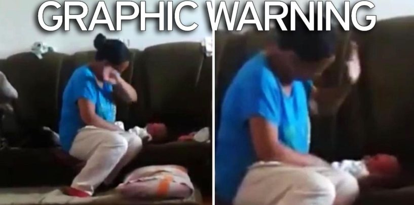 Update Woman Slapping & Mushing Infant 42 Times Has Been Arrested! (Video)