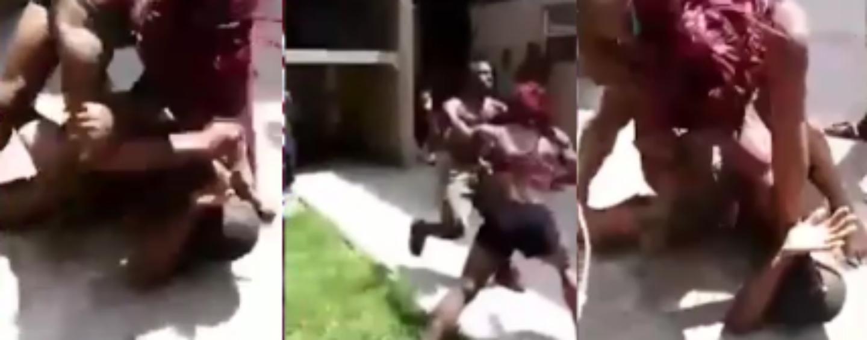 Muscle Bound Black Chick Manhandles Her Boyfriend In Hand To Hand PoundCake Duel! (Video)