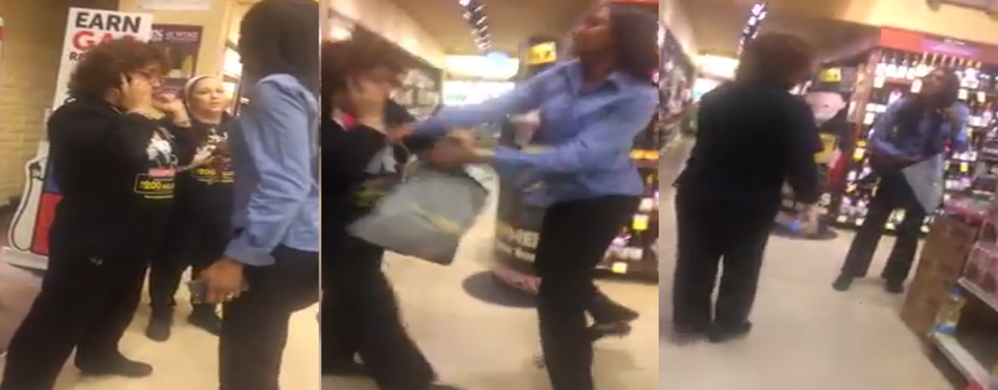 """Live Show! Black Chick Caught Stealing baby Formula A$$aults Clerks Then Yells """"She Got Money"""" (Video)"""