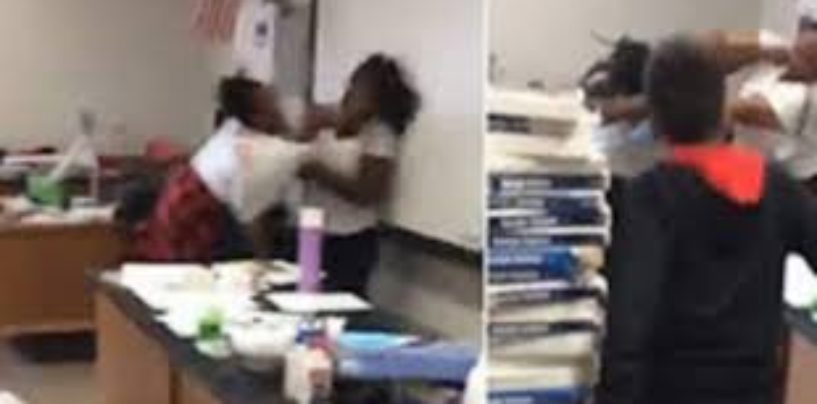 2 Atlanta BT-1000 Teachers Get Into A Brawl During Class In Front Of Students Before Being Arrested! (Video)