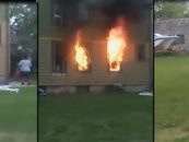 BT-1000 Burns House Down Trying To Force Her Man To Come Outside But Burns A 72 Year Old Man Alive Instead! (Video)