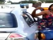 2 Black Dallas Queens Quarrel Over Parking Spot Ending In One Being Hit&Smashed Between 2 Cars! #iShitUnot (Video)