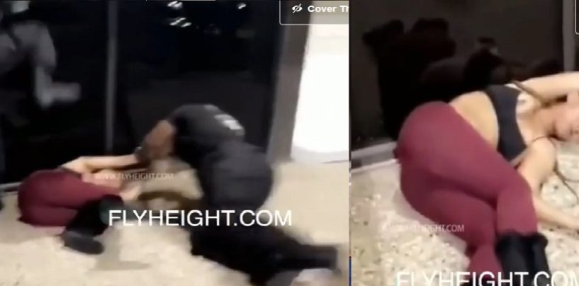 2 Big Black Brute Security Guards Beat Down Light Skinned Loud Mouth! Was This Wrong Or Deserved? (Video)