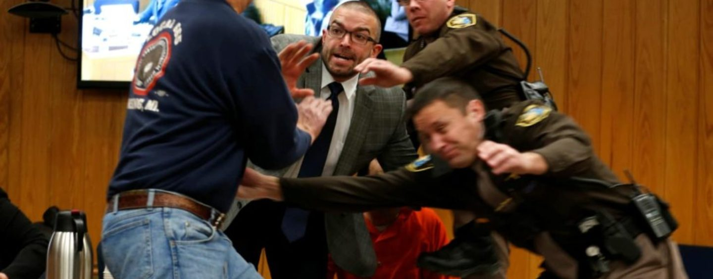 Father Of 3 Girls Victimized By Olympic Doctor Larry Nassar Attacked Him In Court! (Video)