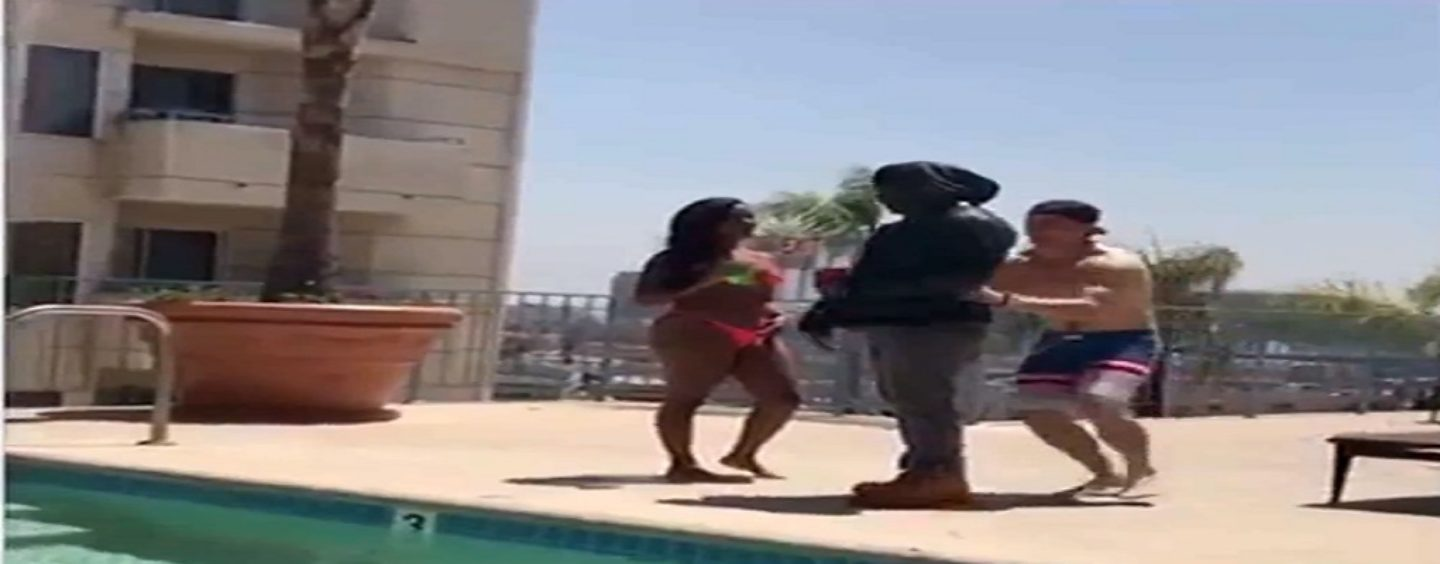 This Is Video Proof White People, You Cant Just Push Anyone Into The Pool Without CONSEQUENCES!!! LOL (Video)