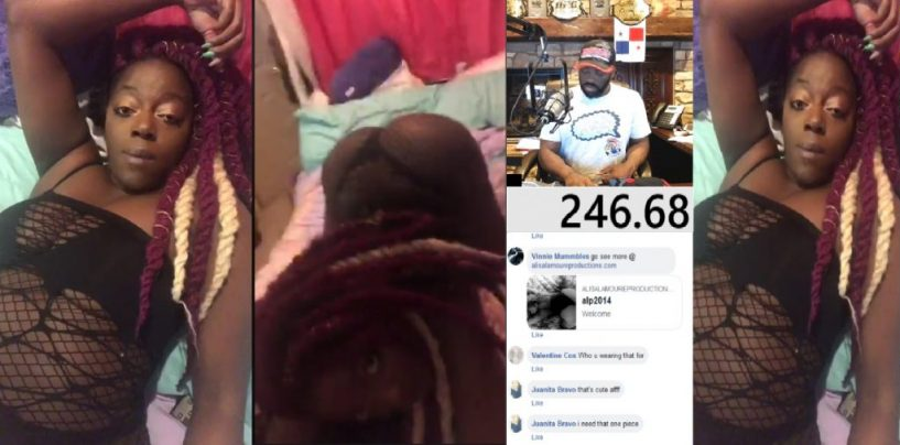 #ATW Land Whale Goes Live On FB & Joins Woman Who TwerksWithMom Watching! SMH (Live Broadcast)
