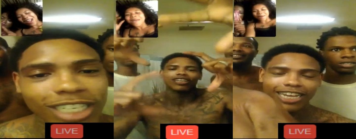 #ATW Thugs In Jail Go Live On Facebook & Beautiful Black Young Prostitutes Join Them To Flirt! #iShitUNot (Video)