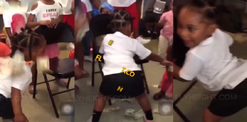 Black Women Throw Money On 3 Year Old Girl While She Twerks For Her Birthday! #iShitUNot (Video)