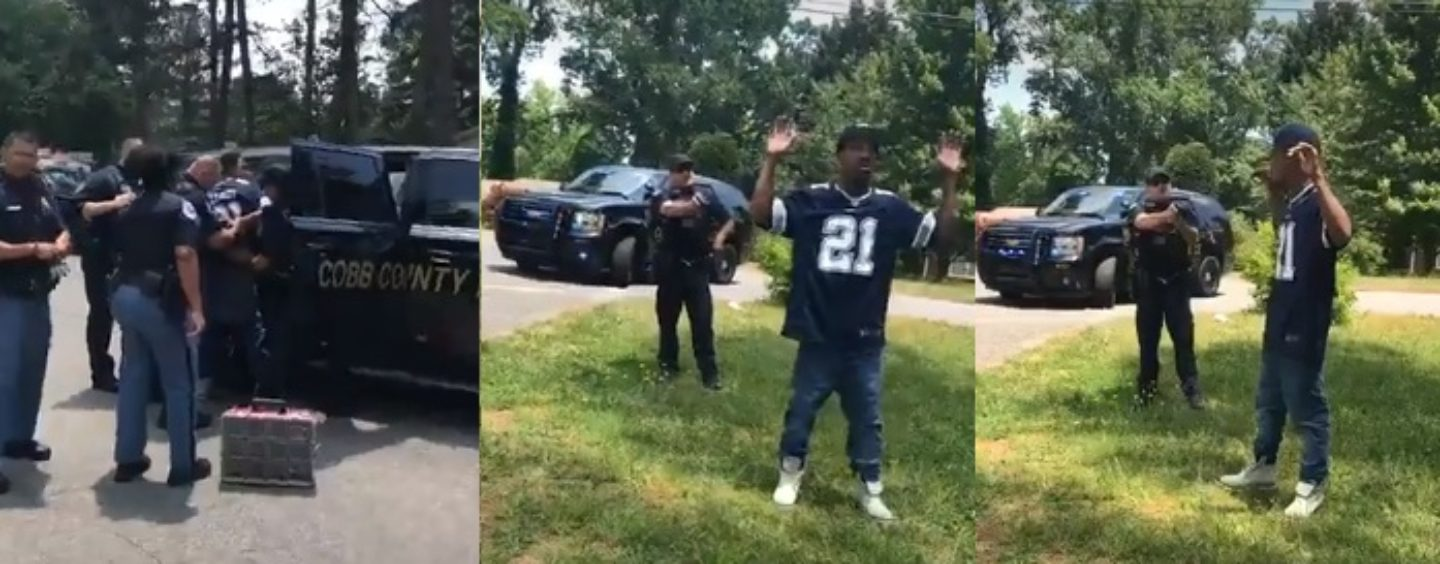 Loud Mouth Black Hoe Yells, Screams & Cusses At The Police Because Her & Her Nigga Were Stopped! (Live Broadcast)