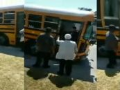 Videos Like This Explain Why I Hate Most Black Females! Elementary School Girls Brawl On School Bus As Mothers Watch (Live Broadcast)