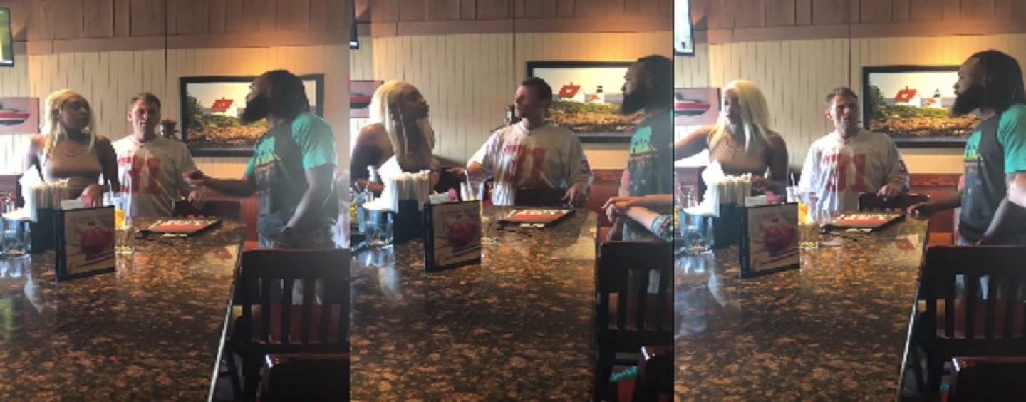Black Man Catches His Hair Hatted Baby Momma SellingAzz To Her White Sugar Daddy At Red Lobster! (Live Broadcast)