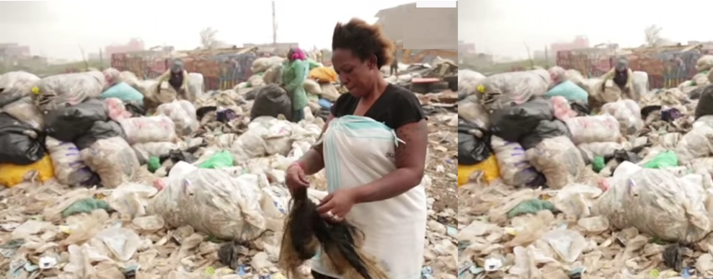 Black Women In Kenya Dive In Landfills To Get Weave In Their Desperation To Look White! (Live Broadcast)