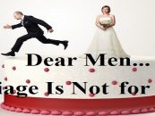 Dear Men:  Here Are The Top Reasons Why You Should Boycott Marriage! 213-943-3362 (Live Broadcast)