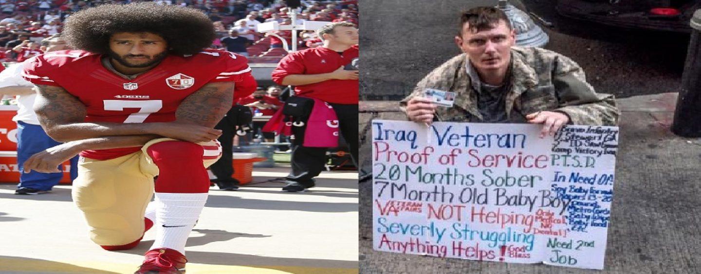 Kaepernick Keeling Vs Americans Leaving Military VETs Homeless! #FakeAssAmericanOutrage (Video)